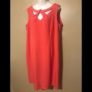 Jones Studio peach dress size 14W, Lining
